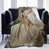 GEHIYPA B-T-S Coperta in flanella ultra morbida copriletto in microfibra resistente decorazione per la casa perfetta per divano letto 127 x 101,6 cm