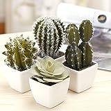 5pulgadas Mini varios colores artificiales Plantas de Cactus, Cactus sintética surtido,...