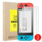 YIWEI Tempered Glass Screen Protector For Nintendo Switch (3-Pack)