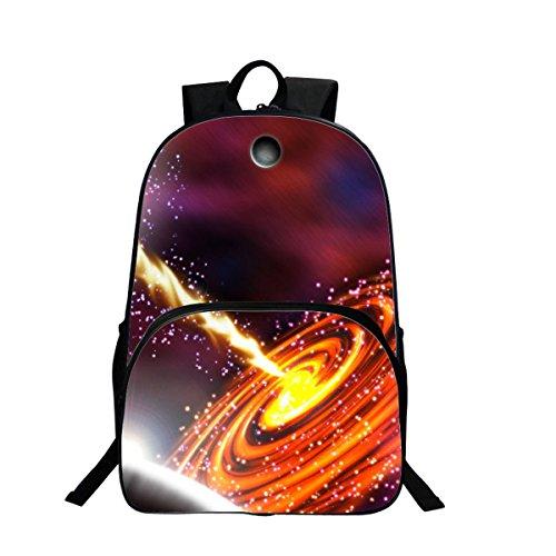 Sac à dos Sac de Loisirs Unisexe Univers Mode Sacs Bandoulière Galaxy 3D Peinture Textile Sacs à Dos Voyage a étudiant Bleu (Jaune)
