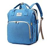 XINGYUE Mochila para pañales con cambiador portátil, unisex, para niños y niñas, mochila de viaje multiusos para mamás y papás