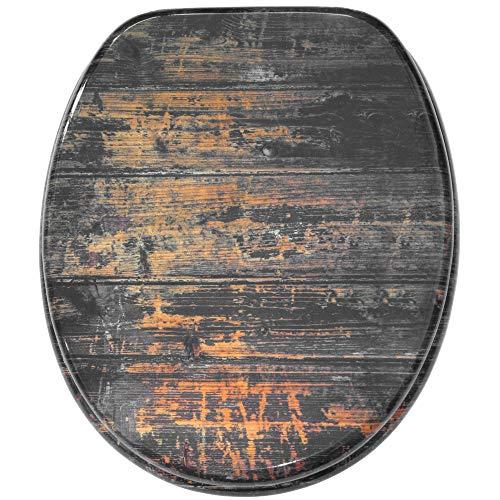 WC Sitz mit Absenkautomatik, große Auswahl, schöne Motive, hochwertige und stabile Qualität aus Holz (Vintage)