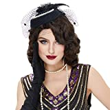 STfantasy Finger Wave Wigs 1920s Retro Long Curly Brown Synthetic Hair for Women Cosplay Halloween Party Costume (Brown)