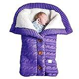 ODSHY Baby Swaddle Wrap Warm Wool Crochet de Punto Newborn Infantil Saco de...