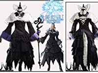 ファイナルファンタジーXIV FF14 黒の魔法使い ヤ・シュトラ コスプレ衣装 +尾耳(ウィッグ 靴別売り)風