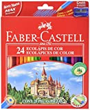 Faber Castell 537678 - Hexagonal Coloured Pencil, Walletof 24 - Assorted Colours