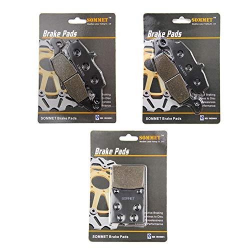 SOMMET Plaquettes de Frein Avant + Arrière pour Suzuki GSF 600 Bandit (00-04) GSX 600 F GSX 750 F Katana (98-06) SV 400 SV 650 (99-02) GSX 750 (98-03) LT229-231-63