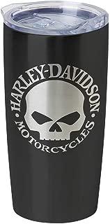 Harley-Davidson Core Willie G Skull Stainless Steel Travel Mug, Black HDX-98618