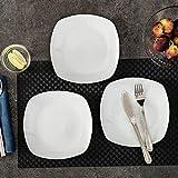 MALACASA, Serie Elisa, 12 TLG. Set 7,5″ Porzellan Dessertteller Kuchenteller Teller Set 19x19x2cm für 12 Personen - 3