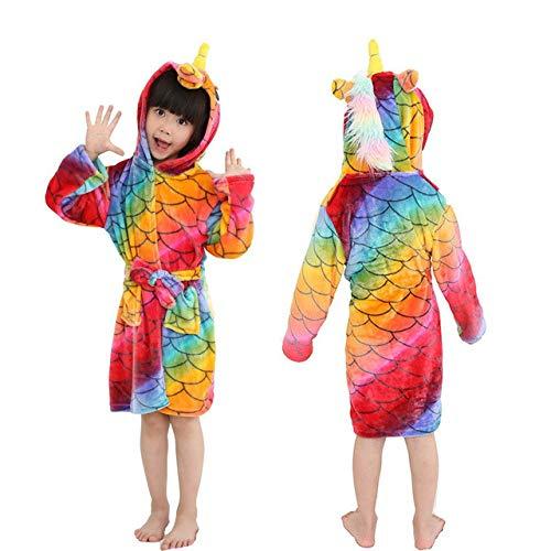 Bademantel für Frauen Kinder Pyjama TierNachtwäsche Jungen Mädchen Bademantel Nachtwäsche Baby Badeanzug-fish-scale-6-4T