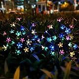 Solar Gartenleuchten für Außen,2 Pack Kirschblüten Solarlampen für Deko,Zwei Modi Mehrfarbig LED Wetterfest Solarlampe Garten,Solarleuchte Garten Blume Für Bürgersteige,Innenhöfe, Garten Dekoration