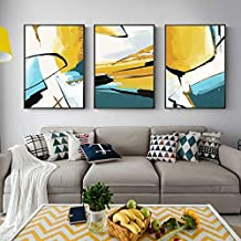 YTGDFB Minimalistic Abstract Color art A2 A3 A4 Canvas Painting Print Poster Picture Wall Living Room Bedroom Office Home ...