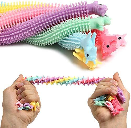 mciskin Bunte sensorische Fidget Stretch Spielzeug hilft reduzieren Zappeln durch Stress und Angst,Einhorn Stretchy String Spielzeug,Zappeln Spielzeug entlastet Stress Reducer