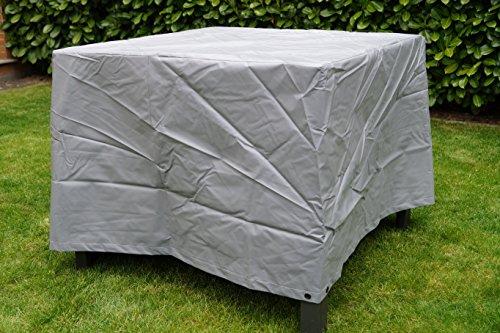 housse de protection pour table de jardin gris carré pour la taille de la table 100x100x66