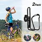Yofidra Bike Water Bottle Holder - 2 Pack Lightweight & Adjustable Aluminum Alloy Water Bottle Cages for Outdoor Activities (Black 2 Pack)