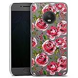 DeinDesign Coque Compatible avec Motorola Moto G5 Plus Étui Housse Fleurs Transparent Roses