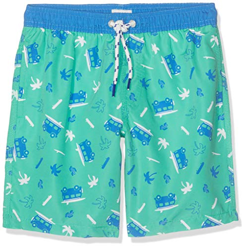 Sanetta Jungen Swim Trunks Woven Badeshorts, Grün (Algal 4993), 128