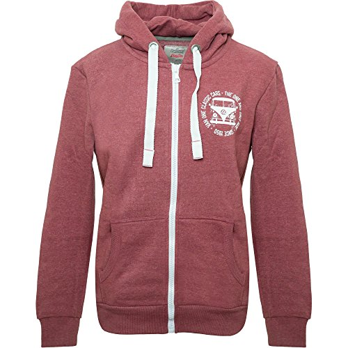 Van One Herren Sweatjacke VW Bulli Face Used rot/Weiss - S