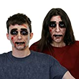CFR. A forma de halloween Fancy dress-maschera de Halloween oscura, color color transparente con juego para maquillaje de mujer taglia unica LADIES PACK 3