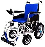 Motorizado eléctrico ligero plegable doble función de Ruedas Eléctrica brazos de escritorio de longitud y la elevación de reposapiés, maneje con la energía o el uso como silla de ruedas manual