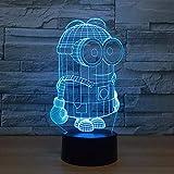 7 Farben Cartoon Cut 3D Minions Nachtlicht LED Schreibtisch Tischlampe Touch Schalter Bunte Für Kind Baby Geburtstag Weihnachtsgeschenk
