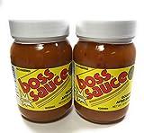 Boss Sauce MILD Gourmet After-Sauce 2 PACK 16 Oz. Hot Sauce, All-Natural, Kosher Sauce, BBQ Sauce, Chicken Wings, Wing Sauce, meat sauce, simmer sauce, chicken sauce