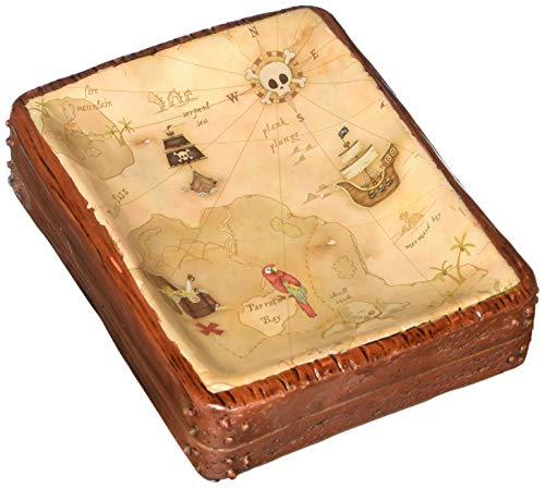 Borders Unlimited Map Soap Dish Pirate's Treasure, Multi