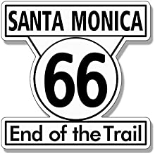 santa monica end of the trail sign