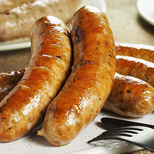 ミートガイ 手作り 生ソーセージ【スパイシー】100%無添加・砂糖不使用 (5本 約500g) Additive-free Non-Sugar Original Spicy Sausage