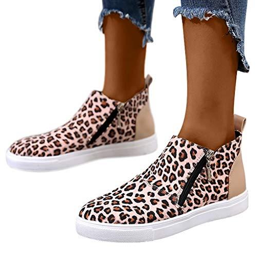 Memefood-Zapatos mecedora de señora Botines Mujer Tacon Ancho Ante Cuero Tobillo Botas Piel Ankle...