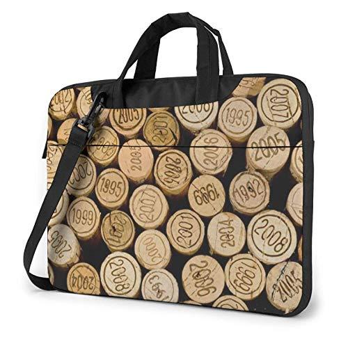 Tapón de Botella de Vino con Funda para portátil Vintage Bolso de Neopreno Lindo Elegante para portátil de 14 Pulgadas