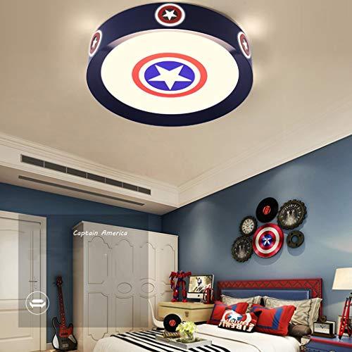 WZJ-Plafón Superhéroe Capitán America Series Escudo de Estilo lámpara de Techo 3-Color de Alto Brillo de los Ojos de Ahorro de energía iluminación de la decoración de la lámpara