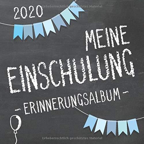 Meine Einschulung 2020 Erinnerungsalbum zum Schulanfang für Jungen: Gästebuch & Fotoalbum als Geschenk für die Schultüte zum ersten Schultag