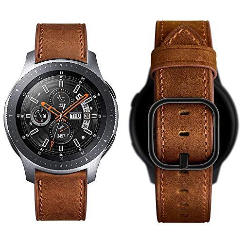 Aottom Compatible con Correa Samsung Galaxy Watch 46mm Piel Reloj 22mm Samsung Galaxy Watch 3 Smartwatch Pulsera Repuesto para Samsung Gear S3 Frontier/Classic/Huawei Watch GT2/Active/Amazfit GTR 47mm