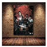 Suuyar 5STARS Game Dead by Daylight Poster Modern Living Room Wall Art Home Decorative HD Game Poster Canvas Print Painting-50x70cm No Frame