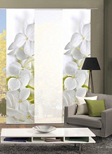 Home Fashion 88353-701 Flächenvorhang 3er-Set Padua, 245 x 60 cm, weiß