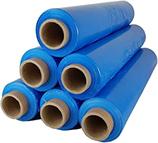 6 Rollen Beste-Folie Stretchfolie 23my 500mm - 2,5kg Palettenfolie Handfolie Wickelfolie Blau