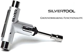 Silver Premium All-In-One Multi Function Ratchet Skate Tool