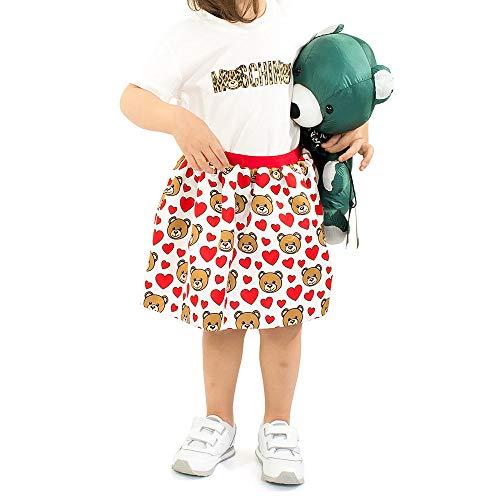 Moschino T-Shirt Bianca con Stampa Leopardata 9 M