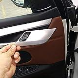 4ピースABSマットシルバー安全ドアロックカバートリムX5 X6 F15 F16 2014 2015 2016 2017車のアクセサリーと互換性があります カーアクセサリ
