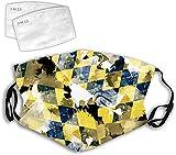 YeeATZ Diseño de patrón de color de camuflaje de diamante 3D, diseño personalizado, cómodo, ajustable, decoraciones faciales