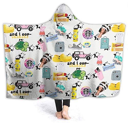 maichengxuan Manta con Capucha 3D Vsco Girl Pack Super Soft Sherpa Fleece Blanket 60'x50'