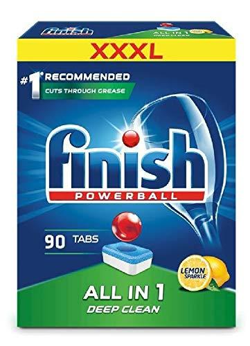 Finish XXXL All in One Dishwasher Tablets Lemon 90s