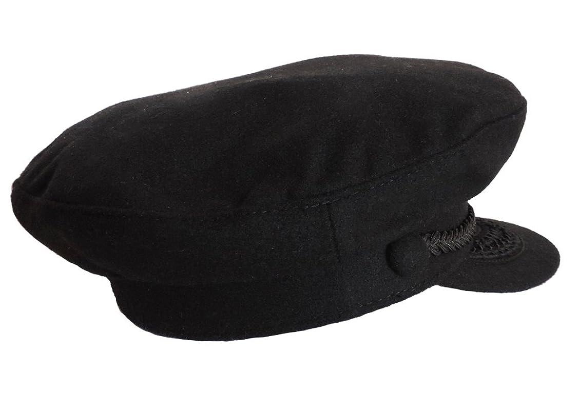 データムアコー海軍ブラックウールGreek Fisherman Cap XL