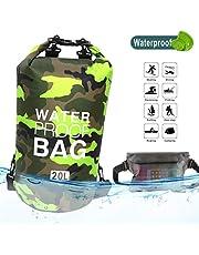 Idefair Bolsa Seca Impermeable, Mochila Seca Flotante Bolsa de Playa Saco seco liviano para la Playa, Paseos en Bote, Pesca, Kayak, natación, Rafting, Camping10L 20L 30L