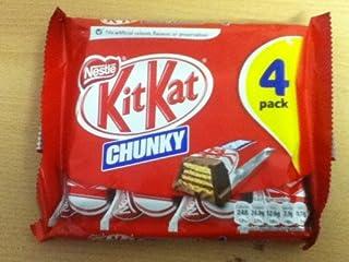 Pack of 4 Nestle Chunky Kit-kat Bars - British Chocolate - Will Ship Worldwide