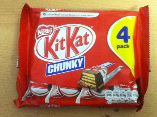 Pack of 4 OFFicial shop Nestle Chunky Kit-kat Bars Chocolate British Will Super-cheap -