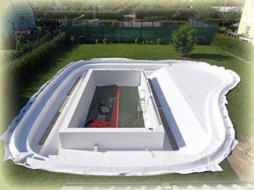 Teichbauzentrum Sankt Julian 20 m² PET Teichvlies 900g/m² Rolle 2 x 10 Meter Schutzvlies Folienschutz Weiß Premium Reißfest Profi Qualität V900