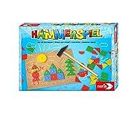Noris 606049101 Hammerspiel, Lern- und Geschicklichkeitsspiel mit 50 bunten Holzbauteilen in verschiedenen Formen, für Kinder ab 4 Jahren