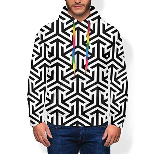 ZSMJ Patrón de fondo sudadera con capucha para hombre de moda cálido invierno deporte casual